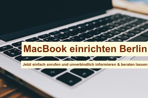 MacBook einrichten Berlin